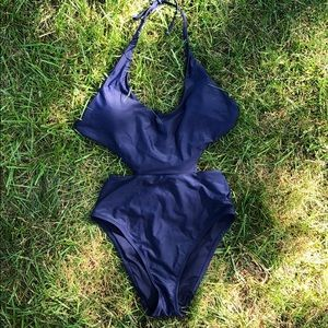 Aerie one-piece suit with cutouts